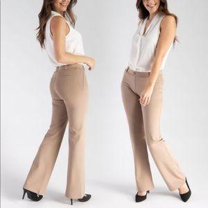 Betabrand Dress Pant Yoga Pant in Tan